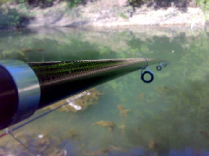 lake fishing blue stick wallpaper