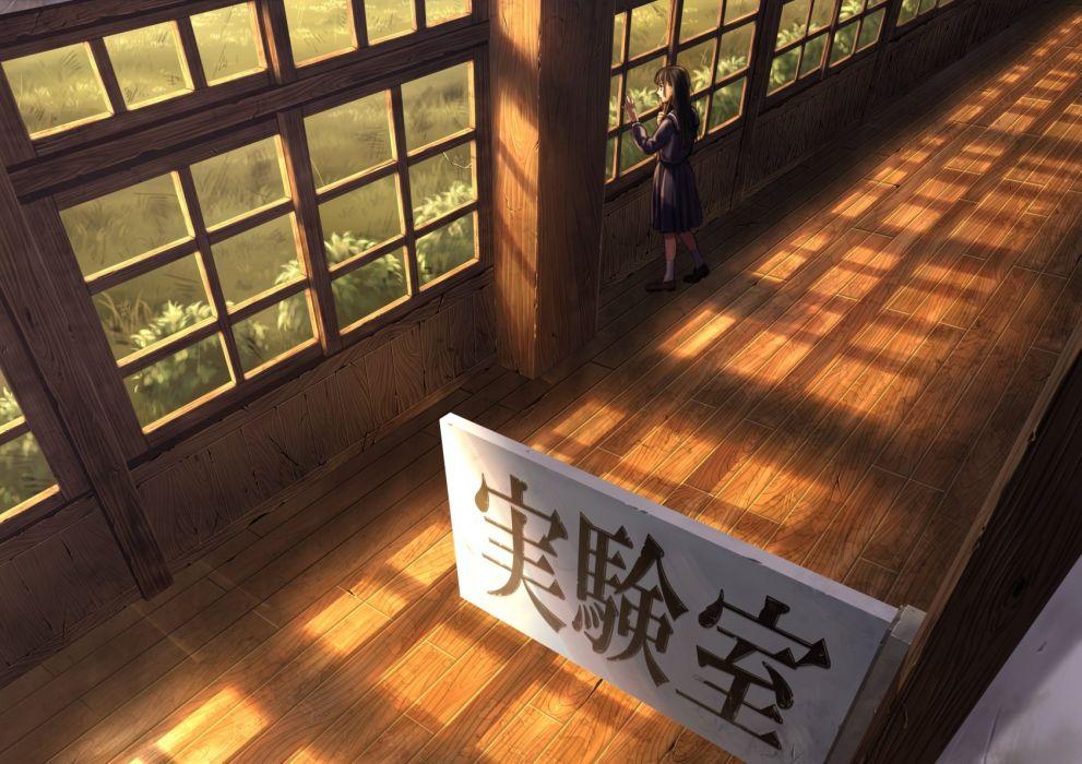 building grass original saneyoshi scenic seifuku wallpaper