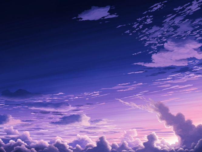 aoha (twintail) clouds nobody original scenic sky wallpaper