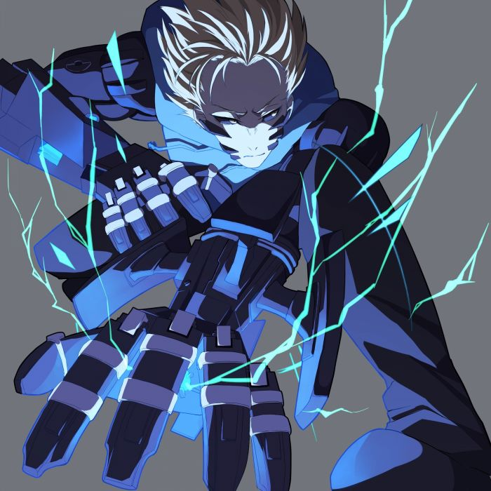One Punch Man Genos (One Punch Man) Cyborg Electricity wallpaper