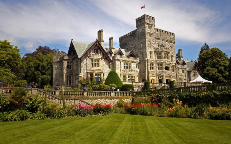castillo hatley escocia arquitectura wallpaper