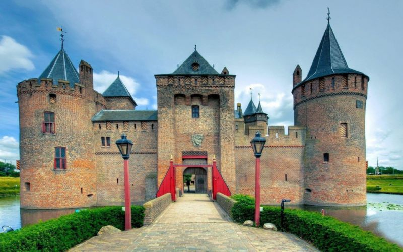 castillo medieval arquitectura wallpaper