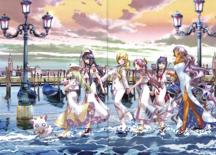 ARIA (Series) Alice Carroll Akira E Ferrari Athena Glory Mizunashi Akari wallpaper