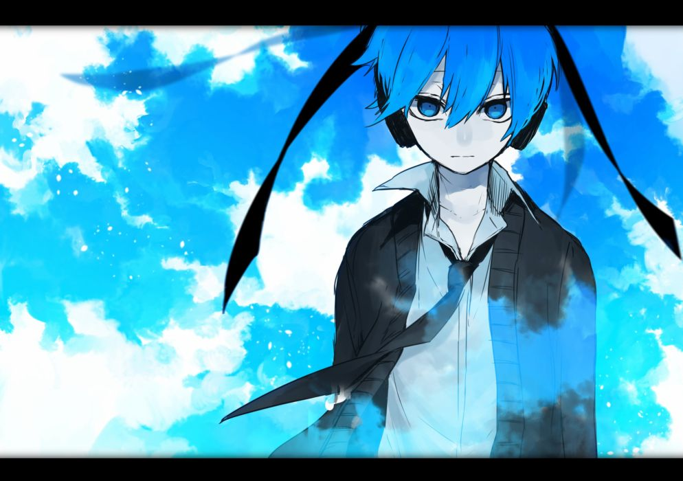 Vocaloid Hatsune Miku Gray Shirt Day Black Outerwear wallpaper