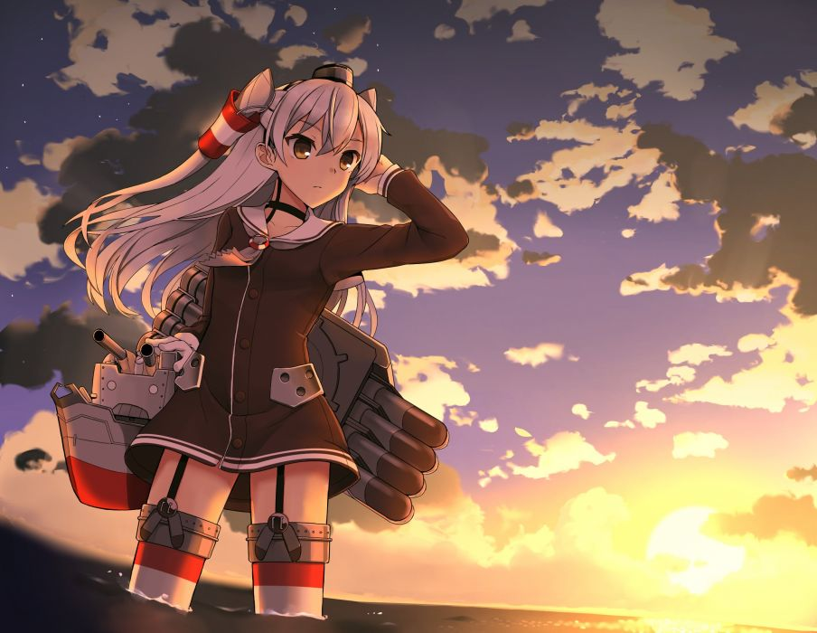 Kantai Collection Amatsukaze (Kantai Collection) Rensouhou-kun wallpaper