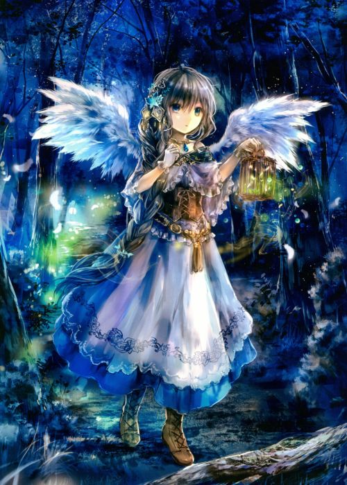 Last Chronicle Forest Holding Object Lamp Feather Wings Nature wallpaper