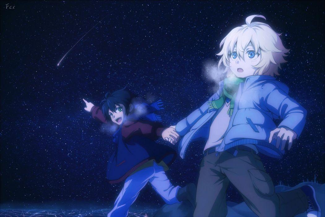 Owari no Seraph Hyakuya Mikaela Hyakuya Yuuichirou Breath Night Sky wallpaper