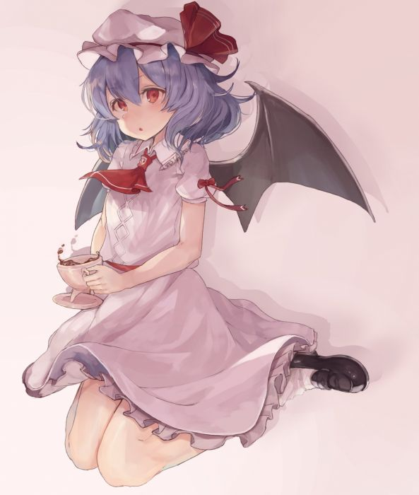 Touhou Remilia Scarlet Vampire Drinks wallpaper