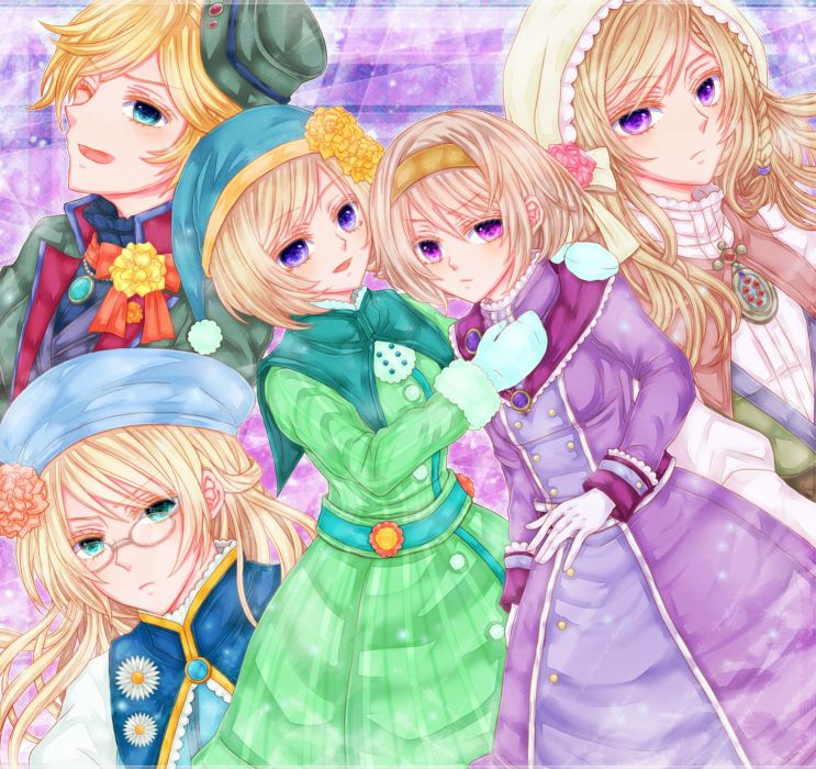 Axis Powers Hetalia Finland (Female) Denmark (Female) Sweden (Female) Norway (Female) wallpaper
