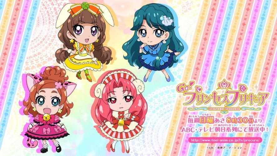 Go! Princess Precure Haruno Haruka Akagi Towa Amanogawa Kirara Kaidou Minami wallpaper
