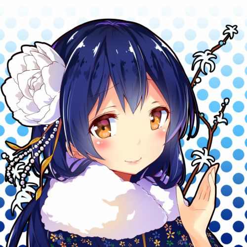 Love Live! Sonoda Umi New Year Spotted Background Spotted wallpaper