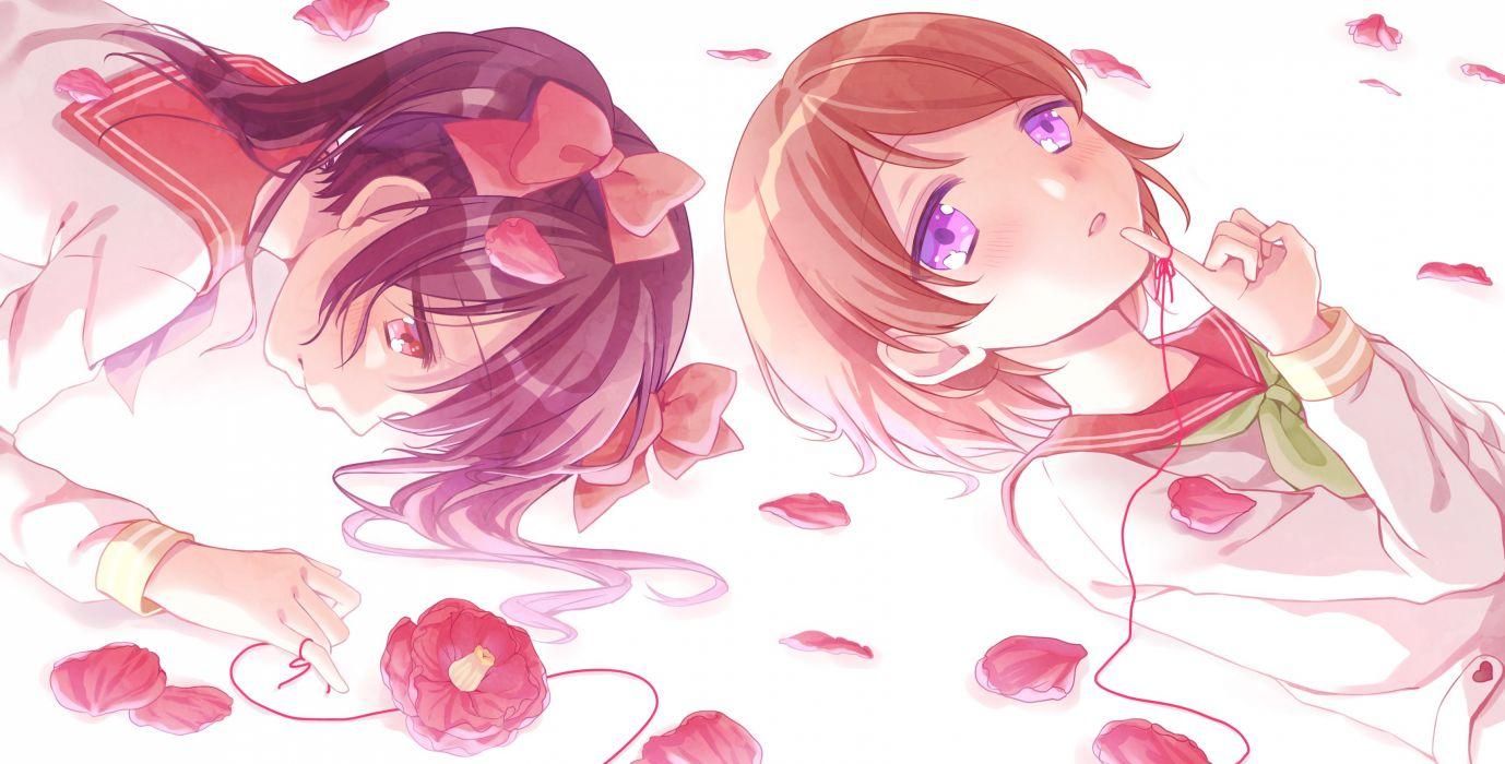 Love Live! Koizumi Hanayo Yazawa Niko Red Thread String wallpaper
