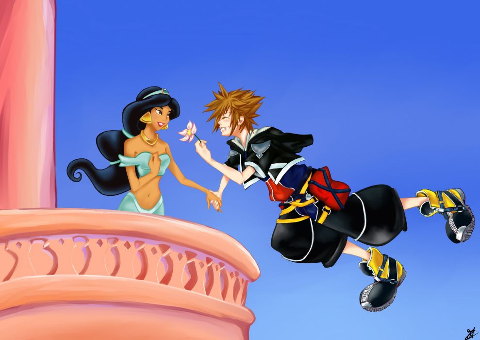 Kingdom Hearts Jasmine and Sora wallpaper