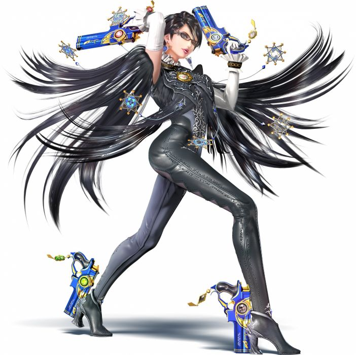 Nintendo Super Smash Bros Bayonetta (Character) Lipstick Brooch Shadow wallpaper