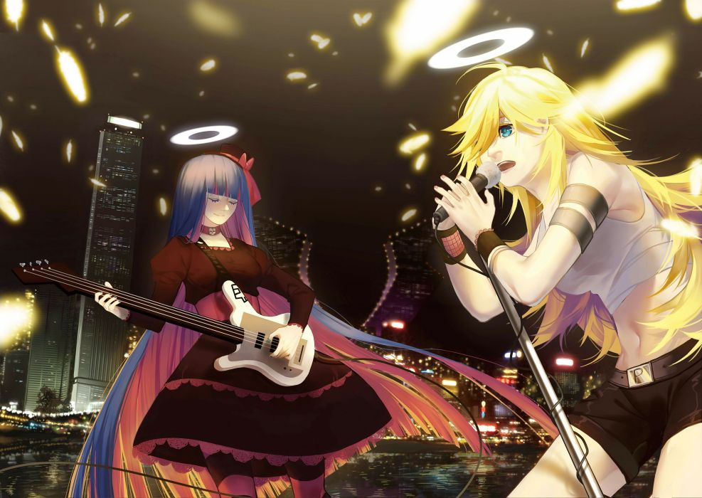 Panty and Stocking With Garterbelt Anarchy Stocking Anarchy Panty Armband Striped Legwear wallpaper