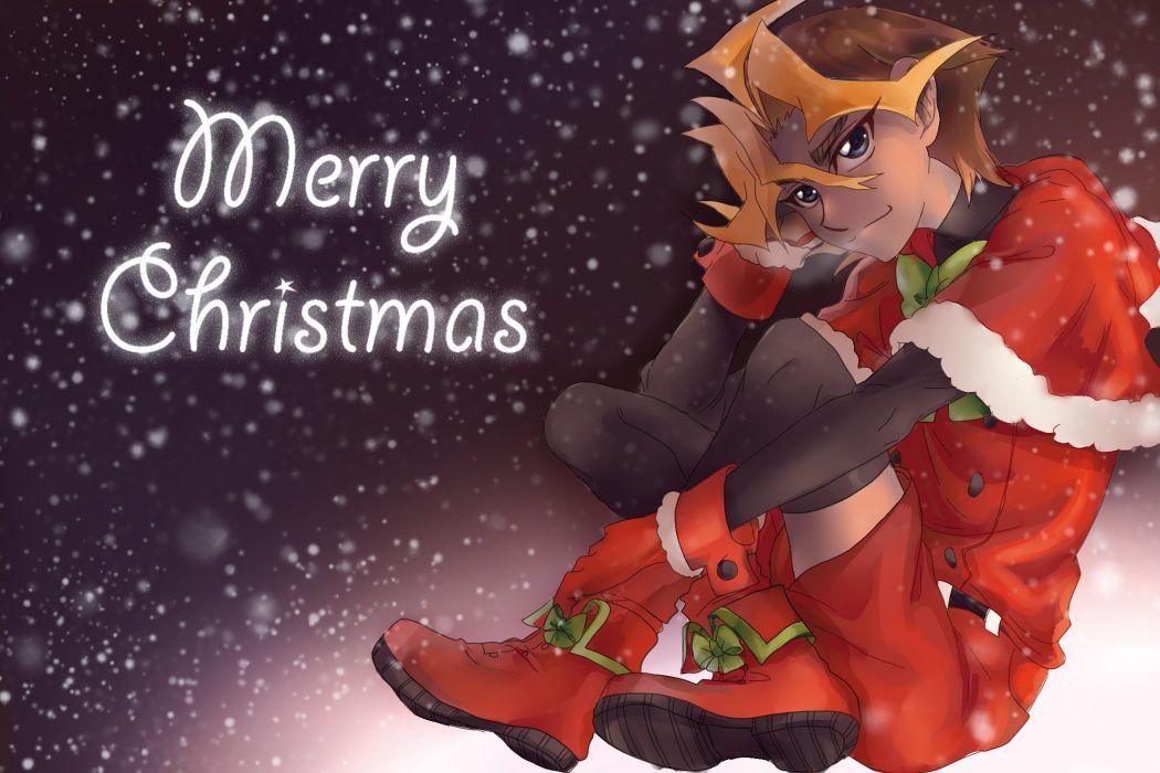 Yu-Gi-Oh! Yu-Gi-Oh! ARC-V Sawatari Shingo Text Holiday Greetings Christmas Outfit wallpaper