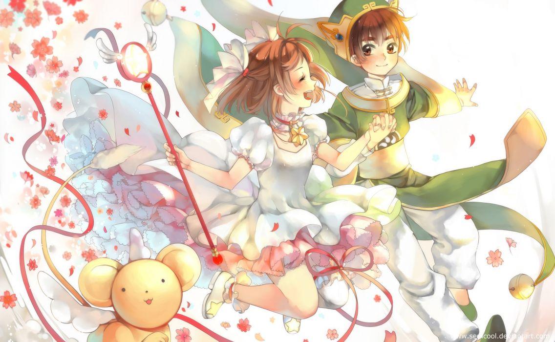 Cardcaptor Sakura Kero-chan Kinomoto Sakura Li Syaoran wallpaper