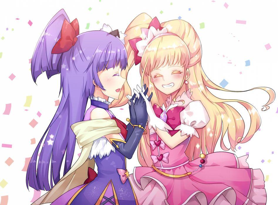 Mahou Tsukai Precure! Riko (Pretty Cure) Cure Magical Asahina Mirai Cure Miracle wallpaper