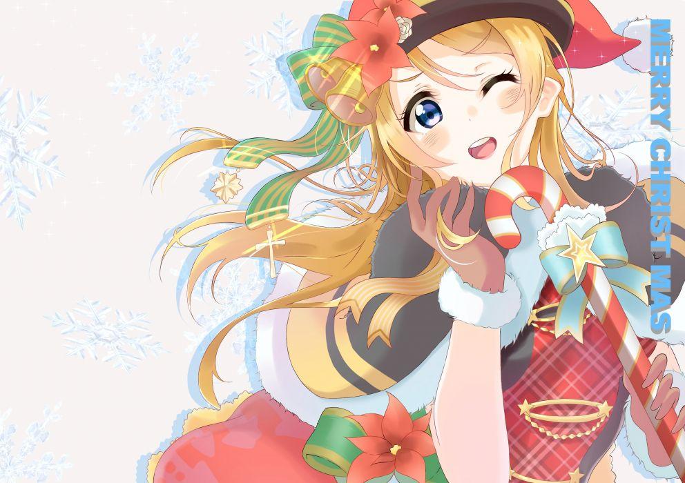 Love Live! Ayase Eri Christmas Christmas Outfit wallpaper