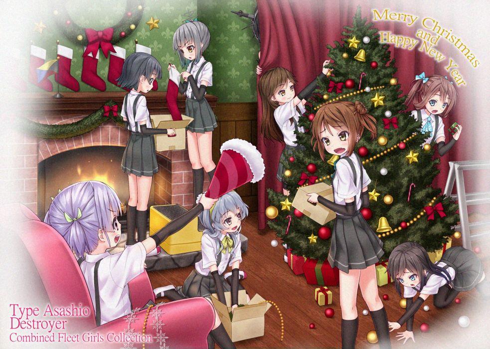 Kantai Collection Michishio (Kantai Collection) Yamagumo (Kantai Collection) Ooshio (Kantai Collection) Asagumo wallpaper
