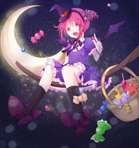 Smile Precure! Hoshizora Miyuki Riding Witch Hat Crescent Moon wallpaper