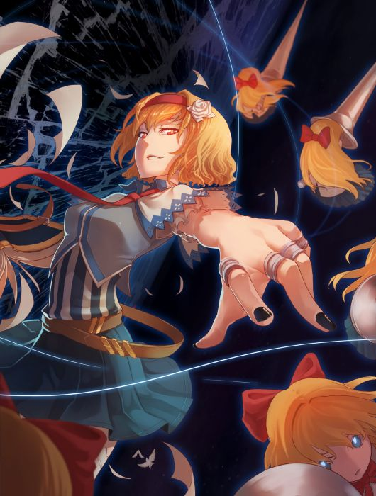 Touhou Shanghai Alice Margatroid Outfit Adaptation Doll wallpaper