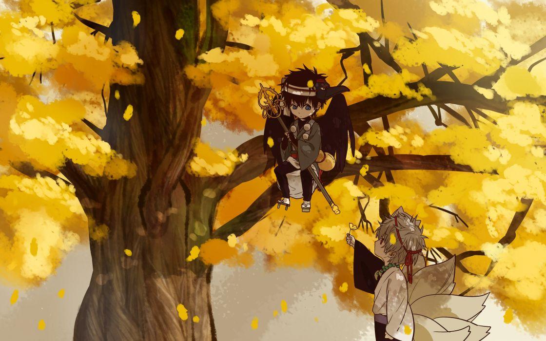 Gin Tama Sakata Gintoki Hijikata Toushirou Multiple Tails In A Tree wallpaper