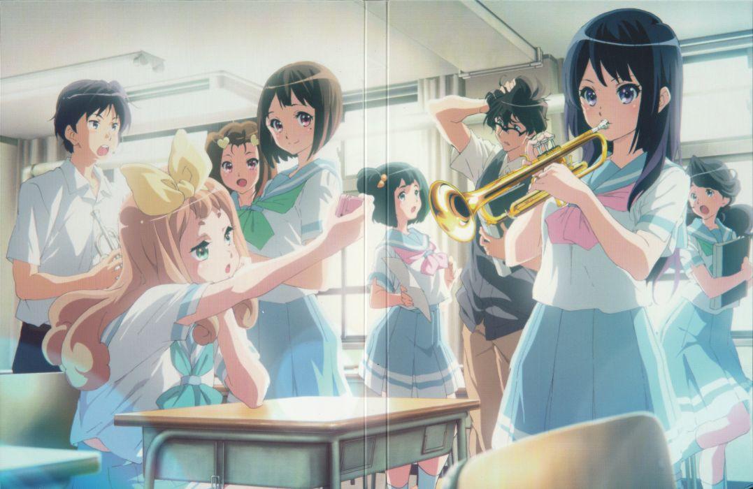 Hibike! Euphonium Kousaka Reina Yoshikawa Yuuko Taki Noboru wallpaper