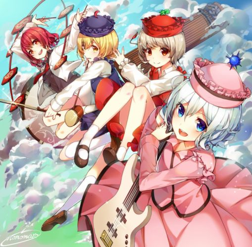 Touhou Horikawa Raiko Merlin Prismriver Lyrica Prismriver Lunasa Prismriver wallpaper