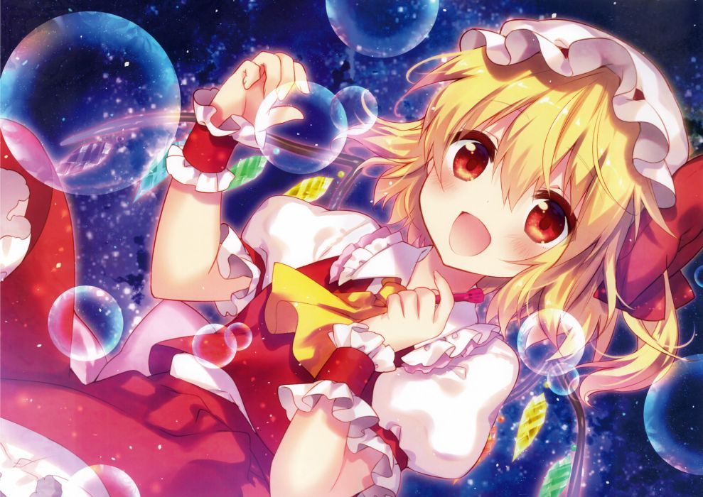 Touhou Flandre Scarlet Unusual Colored Wings wallpaper