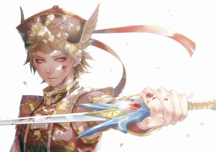 Warriors Orochi Blood On Weapons Glowing Eyes Blood On Hands Glow wallpaper