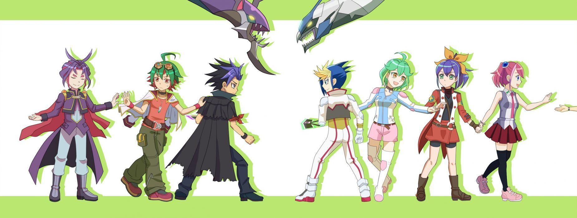 Yu-Gi-Oh! ARC-V Hiiragi Yuzu Clear Wing Synchro Dragon Sakaki Yuya wallpaper