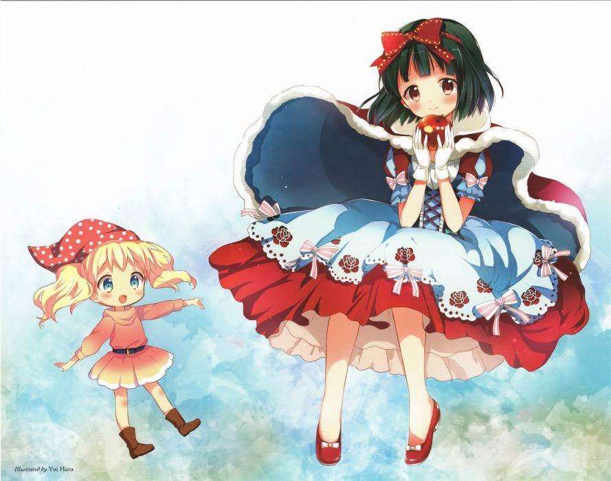 Kiniro Mosaic Oomiya Shinobu Alice Cartelet Snow White wallpaper