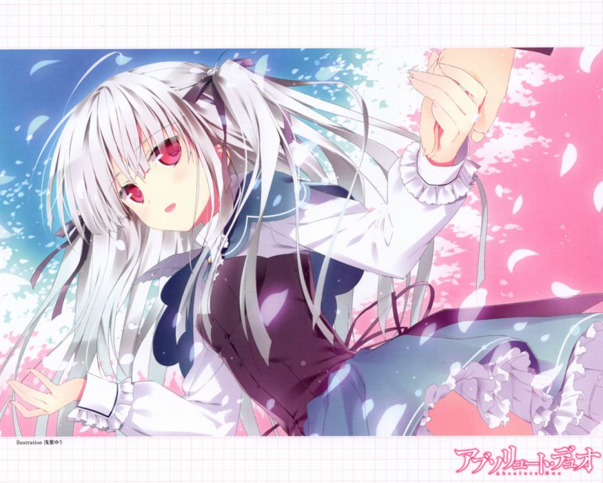 Absolute Duo Julie Sigtuna Hand on Hand Floating Floating Hair wallpaper