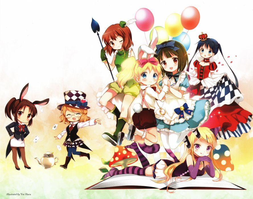 Kiniro Mosaic Inokuma Youko Komichi Aya Oomiya Shinobu wallpaper