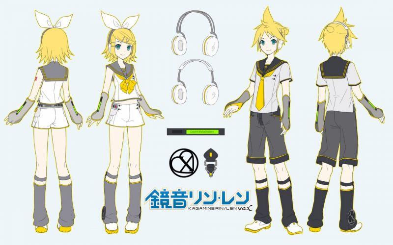 Vocaloid Kagamine Len Kagamine Rin Bare Knees wallpaper