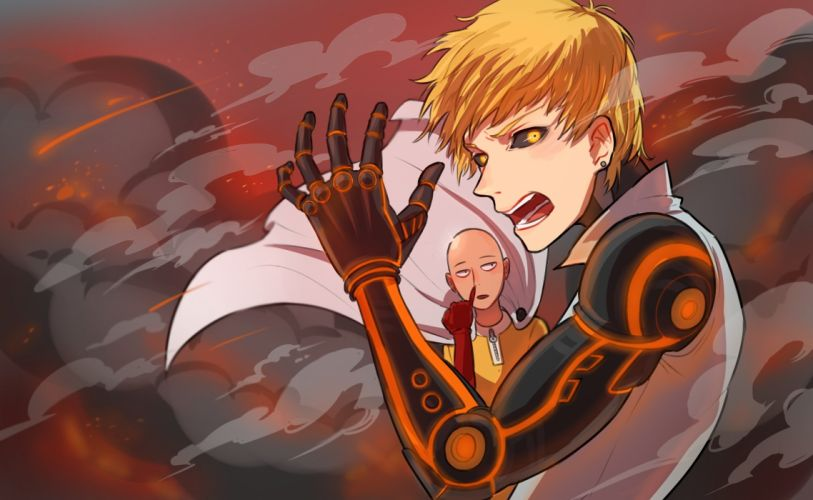 One Punch Man Saitama (One Punch Man) Genos (One Punch Man) Cyborg Bald wallpaper