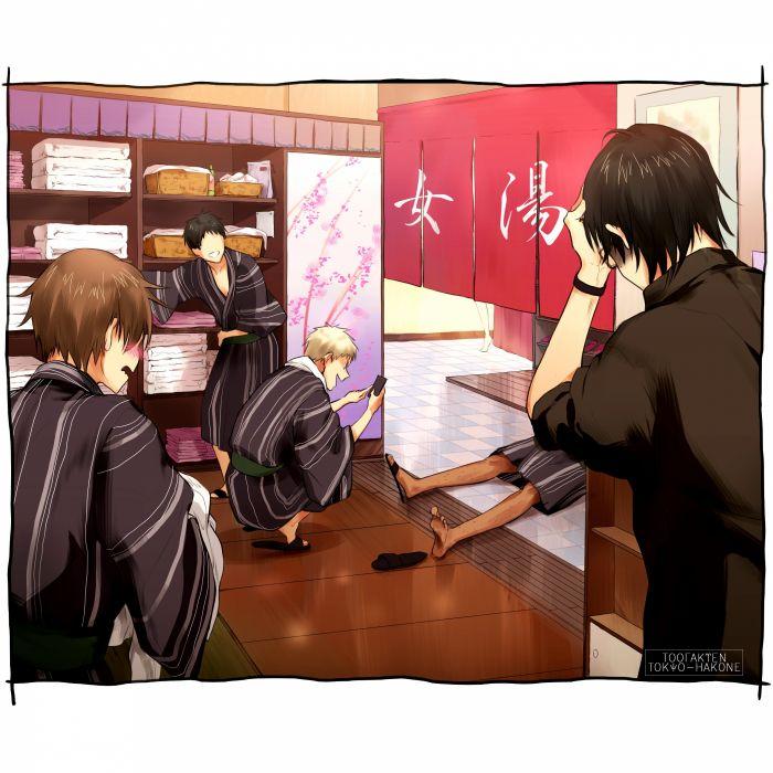 Kuroko no Basuke Susa Yoshinori Aomine Daiki Imayoshi Shouichi Sakurai Ryou wallpaper