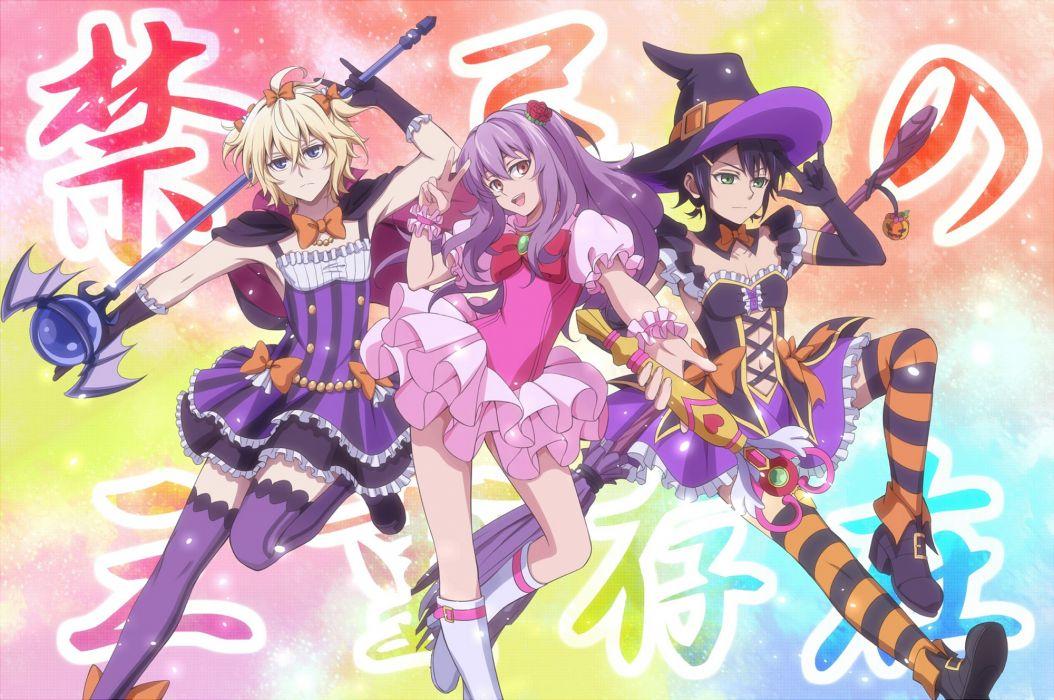 Owari no Seraph Hyakuya Mikaela Hiiragi Shinoa Hyakuya Yuuichirou Multi-colored Legwear wallpaper