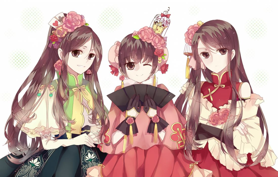 Axis Powers Hetalia Macau (Female) Hong Kong (Female) China (Female) White Outerwear wallpaper