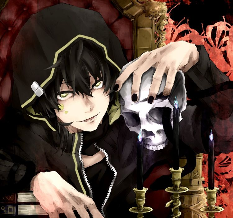 Kagerou Project Dark Konoha Kokonose Konoha Haruka Bone Skull wallpaper