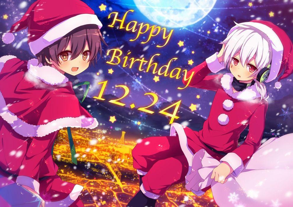 Kagerou Project Kokonose Konoha Haruka Christmas Outfit Christmas Short Ponytail wallpaper