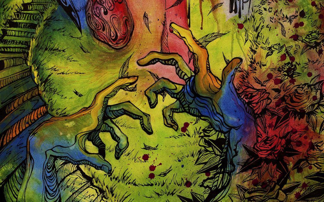 PSYCHEDELIC art artwork fantasy dream color neon detail teaser wallpaper
