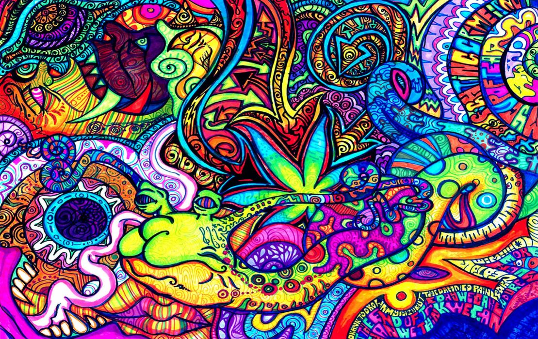 PSYCHEDELIC art artwork fantasy dream color neon detail teaser wallpaper