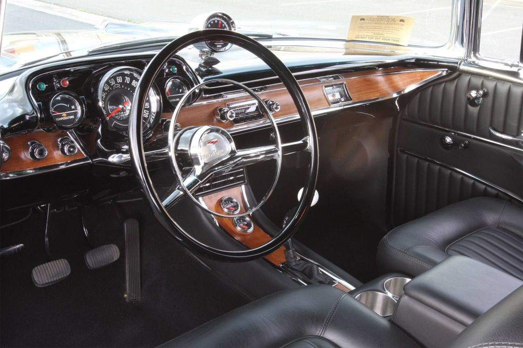 1957 Chevrolet Bel Air custom hot rod rods retro belair wallpaper