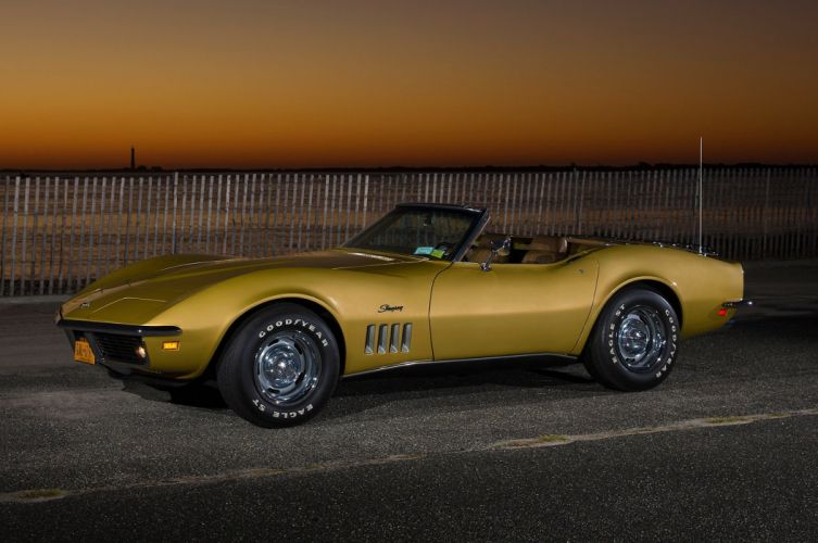 1969 Chevrolet Corvette Sting Ray muscle supercar classic convertible stingray wallpaper