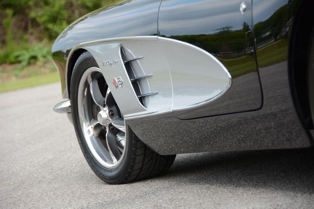 1959 Chevrolet Corvette custom hot rod rods retro muscle supercar wallpaper