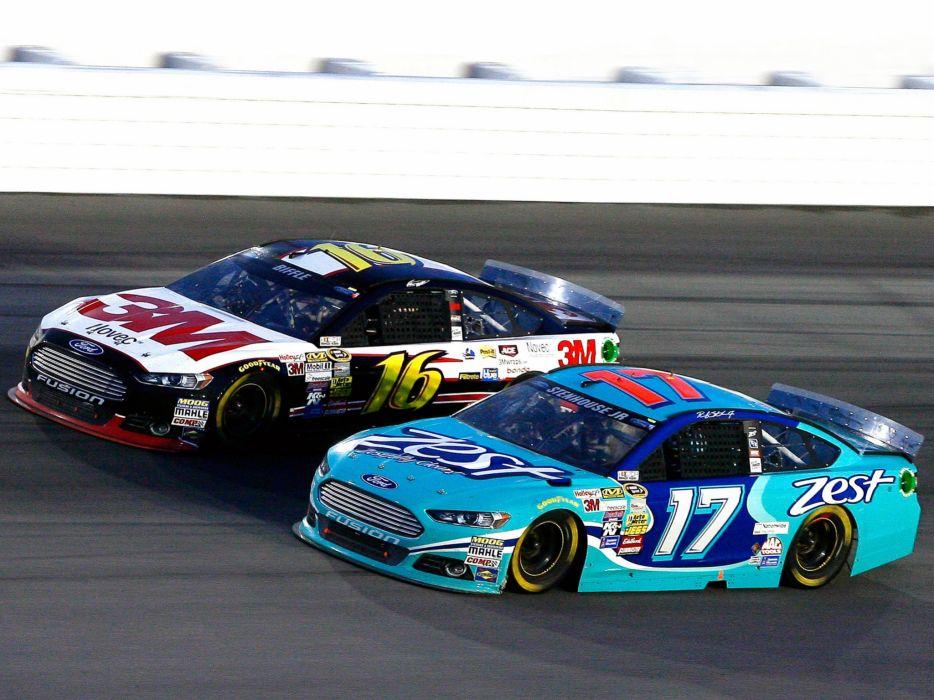 Ford Fusion NASCAR race racing custom wallpaper