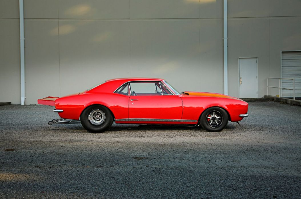 1967 Pro Street Chevrolet Camaro hot rod rods custom muscle classic wallpaper