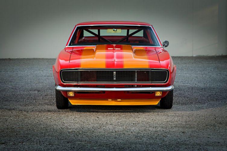 1967 Pro Street Chevrolet Camaro hot rod rods custom muscle classic wallpaper
